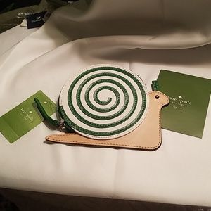 Kate Spade Leather Snail Coin Purse NWT